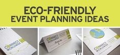 Eco-friendly event planning ideas using plantable seed paper.