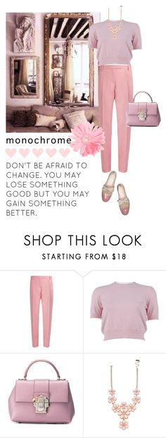 """Pink head-to-toe"" by tiana212 ❤ liked on Polyvore featuring Valentino, Miu Miu and Dolce&Gabbana"