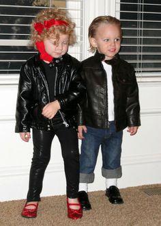Little boy & girl Grease Halloween Costumes