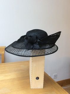 c274fd52fde Beautiful black Debenhams wedding   occasion hat - only worn once - perfect  condition
