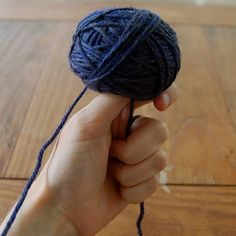 Winding a Center-Pull Ball of Yarn