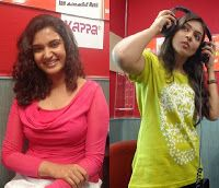 Malayalam Movie Actresses Latest Cute Stills From Club 94.3 Radio, At Studio, On Location For Promoting Contest Conducted By Fm Team.