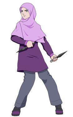 Yamanaka Ino by TaJ92.deviantart.com on @DeviantArt Muslimah Anime, Anime Naruto, Naruto Uzumaki, Power Girl, Muslim Women, Niqab, Cartoon Art, Islamic Art, Allah