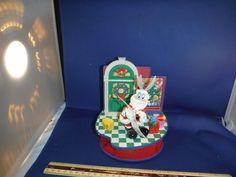 Rare Enesco Looney Tunes Christmas Bugs Bunny Action Music Box Mib