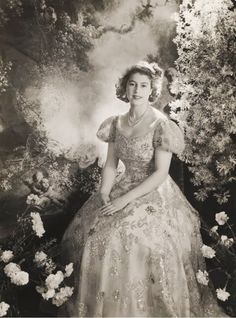 Princess Elizabeth in Buckingham Palace 1945 by Cecil Beaton