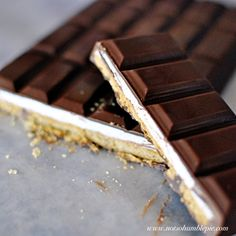 S'mores Candy Bars by notsohumblepie  #Smores_Bars