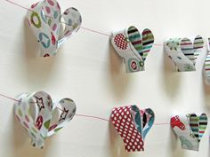 Any leftover wrapping paper? Bunting Decorations