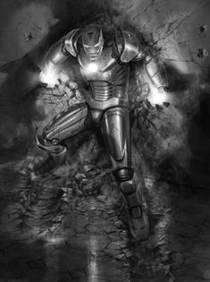 Iron Man Concept Art by Adi Granov