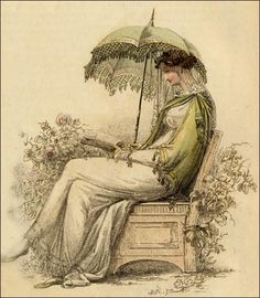 """Promenade Dress ""Ackermann's Repository of Arts September 1813"