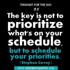 Priorities, Resolutions, And What Really Matters |
