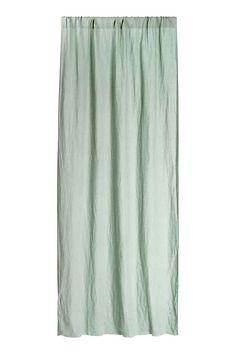 Rideau en lin lavé - Vert ancien - Home All   H&M FR 1