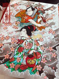 Samurai & Geisha (concept) Art by Paulo Barbosa - Ariuken Art on Facebook
