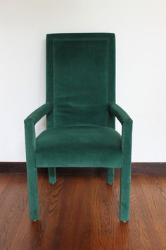 Vintage Peacock Green Velvet Parsons Chair & 42 best Parsons Chair images on Pinterest | Parsons chairs Chair ...