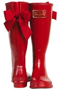 red wellies! woo!
