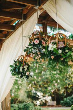 Eclectic+Pink+and+Gray+Garden+Wedding+via+TheELD.com