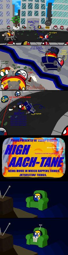 High Aach-tane: The Chase (Bosnia) by Blah The Amazing  #polandball #countryball