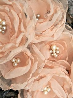 blush fabric flowers from etsy