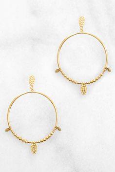 BretBoho Gold Wire Wrap Turquoise Triangle Stone Hoop Earrings Turquoise vA5sU