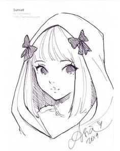 Girly Drawings, Pony Drawing, Art Drawings Sketches Simple, Drawing Base, Cartoon Drawings, Cartoon Art, Image Manga, Anime Sketch, Character Drawing