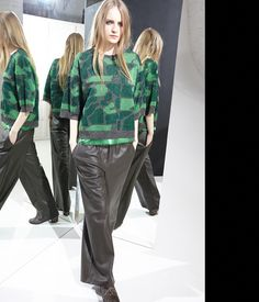 nude fashion jacquard knit-sweater knitwear pants ecoleather moda style abbigliamento