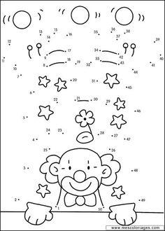 Preschool Worksheets, Preschool Activities, Teaching Tools, Teaching Math, Dots Game, Simple Birthday Cards, Kids English, Math Numbers, Circus Theme