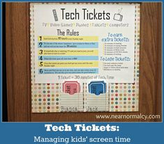 Near Normalcy: Tech Tickets; or, how to pry the video game controller out of your kid's deformed, claw-like hands