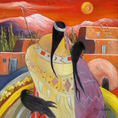 Spirit of the Sunrise Painter by Marilu Norden kp Native American Paintings, Native American Artists, Indian Paintings, Modern Indian Art, American Indian Art, Native Indian, Native Art, Native American Regalia, Southwestern Art