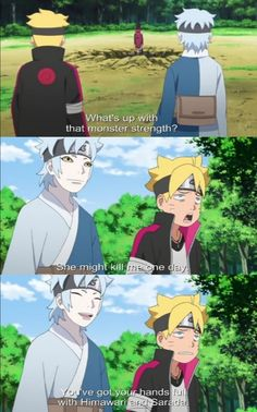 Boruto is having trouble with Himawari and Sarada ❤️ Strongest kunoichi ❤️ Episode 41 ❤️❤️❤️