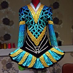 Irish Dance Solo Dress by Celtic Star.  Great colors.
