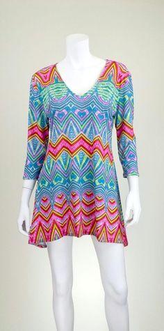 Ethnic Lime 3/4 Dress