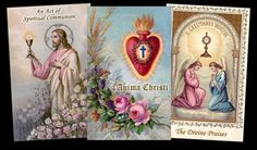 FREE Printable Holy Cards, created using owner's antique holy card collection.