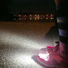 """Patty Harrelson, 45, Orlando, Florida """"I have a very demanding job that starts very early and ends late, so most of my runs happen at 5 a.m. in the dark. Safety is always a concern! I have a headlamp, but don't love it. When I tried the Night Runners, I was in love! They are comfortable and convenient and really make those dark runs safer. I LOVE my early morning dark runs because it's peaceful, and I have time to think and prepare for my day while the rest of the world sleeps."""""""