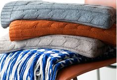 Chilly days and nights call for warm spaces. Knit textures are a go-to by designers to soften minimalist lines. Inspire some serious hibernation with cable-knit pillows, soft throws, and textured rugs. Who knew winter could look so good?http://www.allmodern.com/deals-and-design-ideas/Warm-%26-Woolly~E16261.html?refid=SBP.rBAZEVRRl4Fuvma7c4tTAldM4sIdCkCIp1uwOCNlPxk