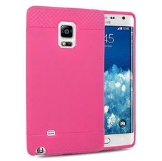 Samsung Galaxy Note Edge Crystal Hot Pink Skin Case