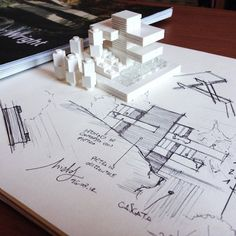 CASA DA CASCATA, DE Frank Lloyd Wright E OS MARAVILHOSOS CROQUIS ... - Papo de Design