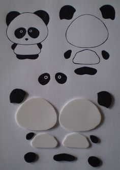 Manualidades y Arte: Manualidades paso a paso Crafts and Art: Crafts step by step Bunny Crafts, Easter Crafts, Crafts For Kids, Panda Birthday Party, Panda Party, Bolo Panda, Panda Baby Showers, Panda Craft, Panda Cakes