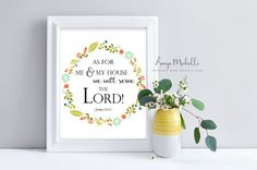 SALE Joshua 24:15 As for me and my house we by AnayaMichelleDecor