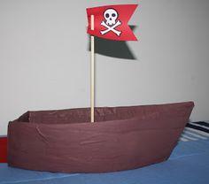 Como fazer barco de papelão...