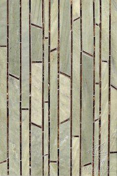 Name: Bamboo Style: Metamorphosis Product Number: CB0608 Description: Bamboo in Emperador Dark (p), Verde Luna (h)