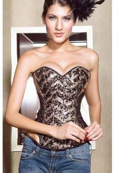Corset plus Oro lentejuelas - Corsets online lenceria vestidos