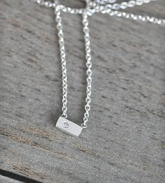 Tiny Diamond Silver Pendant Necklace | Jewelry Necklaces | Porter Gulch | Scoutmob Shoppe | Product Detail