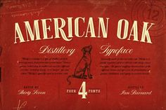 American Oak - 4 Font Set by Ian Barnard on @creativemarket