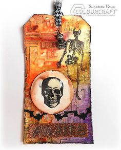 Susanne Rose Designs: Mixed Media Halloween Tag with ColourCraft