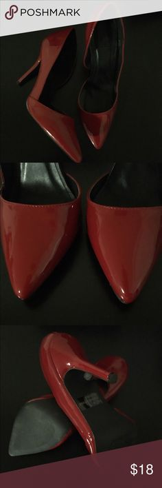 """Listing✨ Sexy Red Pumps Red pumps in excellent condition. Only worn once and started to feel a little tight on me. This is a true to size 8. Heel height approx 4"""" Charlotte Russe Shoes Heels"""