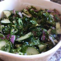 Refreshing Sesame Cucumber Salad with Smashed Garlic & Ginger Dressing