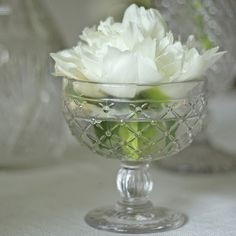 Pressed Glass Dessert Bowl - available from www.theweddingofmydreams.co.uk #theweddingofmydreams