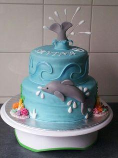Dolphin cake -dolfijn taart