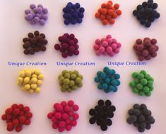2cm Felt Balls Assorted Colors Multi colours Wool Mixed colours Wool balls Craft Wooden Craft Sticks, Craft Stick Crafts, Felt Ball Rug, Braided Rugs, Wooden Beads, Color Mixing, Fiber Art, Child Labour, Car Signs