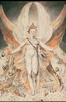 The Bringer of Light by William Blake, a beautiful print. Printed on 11 X 17 glossy 12pt high quality paper.