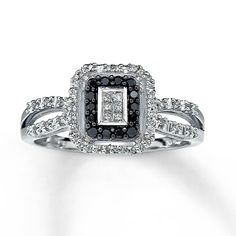 Princess Cut Black Diamond Engagement Rings Zales 19